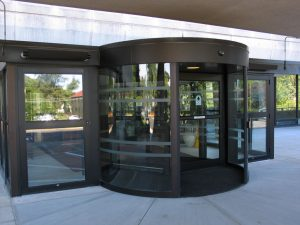 Round shaped revolving door Ottawa, Burlington, London - All Glass Revolving Door Ontario