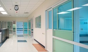 Sliding Door in Hospital Lobby Area